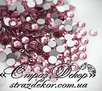 Стразы ss16 без клея Light Rose (светло-розовые) (100шт.) холодной фиксации, фото 1