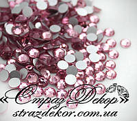 Стразы ss6 без клея Light Rose (светло-розовые) (100шт.) холодной фиксации, фото 1