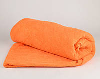 Банное махровое полотенце однотонное Туркменистан 70х140 плотность 500гр/м2 Оранжевое (B1-2-R)