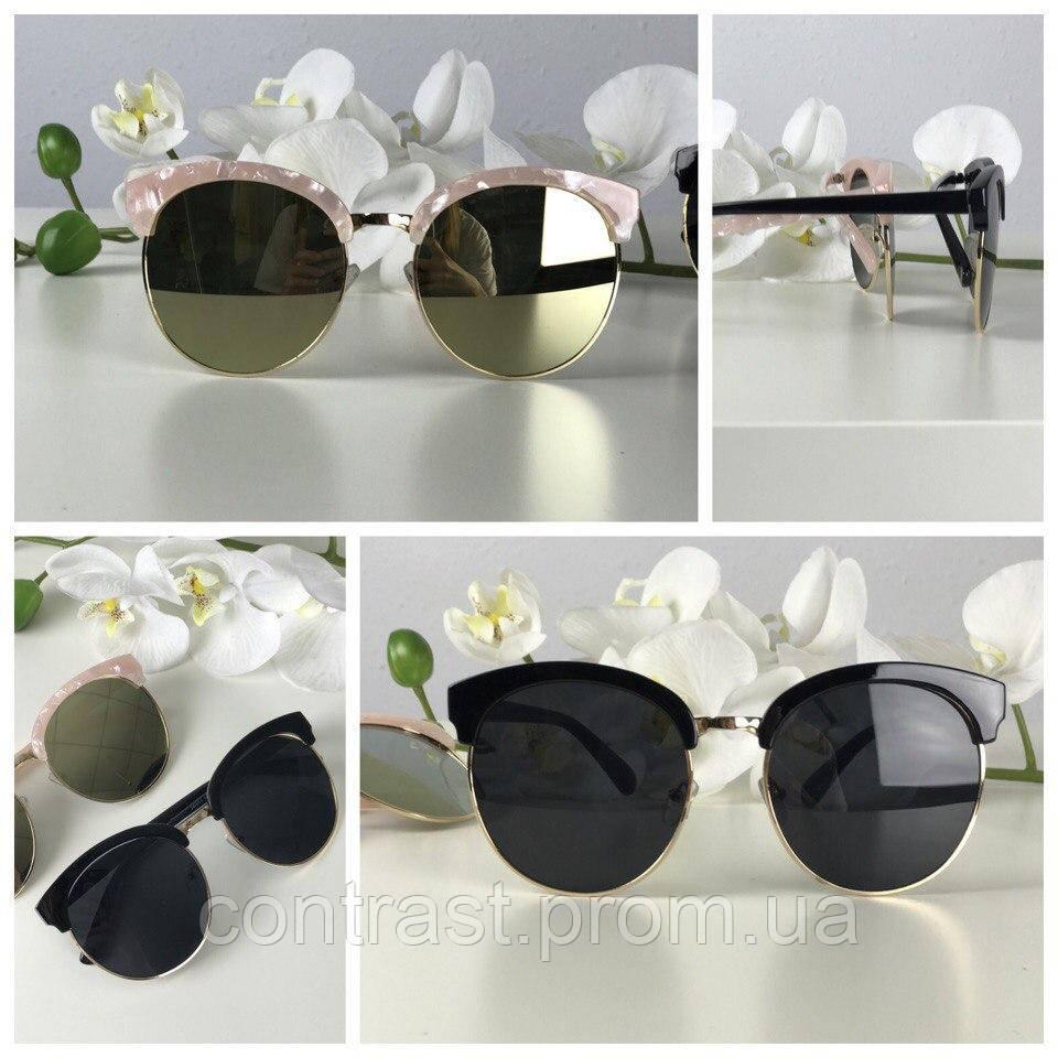 Элегантные круглые очки с оправой browliners
