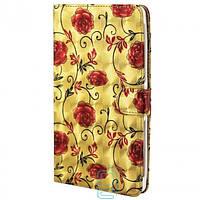 Чехол-книжка XXXL для планшетов 7.0″ №2 розы золотистый