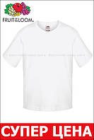 Детская футболка Мягкая для Мальчиков Белая Fruit of the loom 61-015-30 7-8