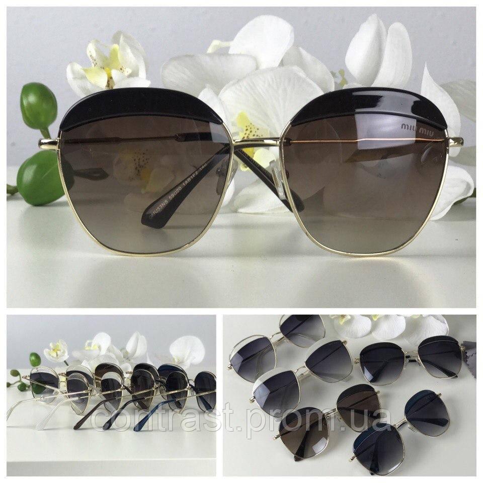 Роскошные очки-оверсайз экстравагантной формы pantos (коричневая линза, черный декор)