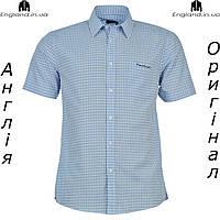 Рубашка мужская Pierre Cardin светло-синяя на короткий рукав | Сорочка чоловіча Pierre Cardin світлосиня