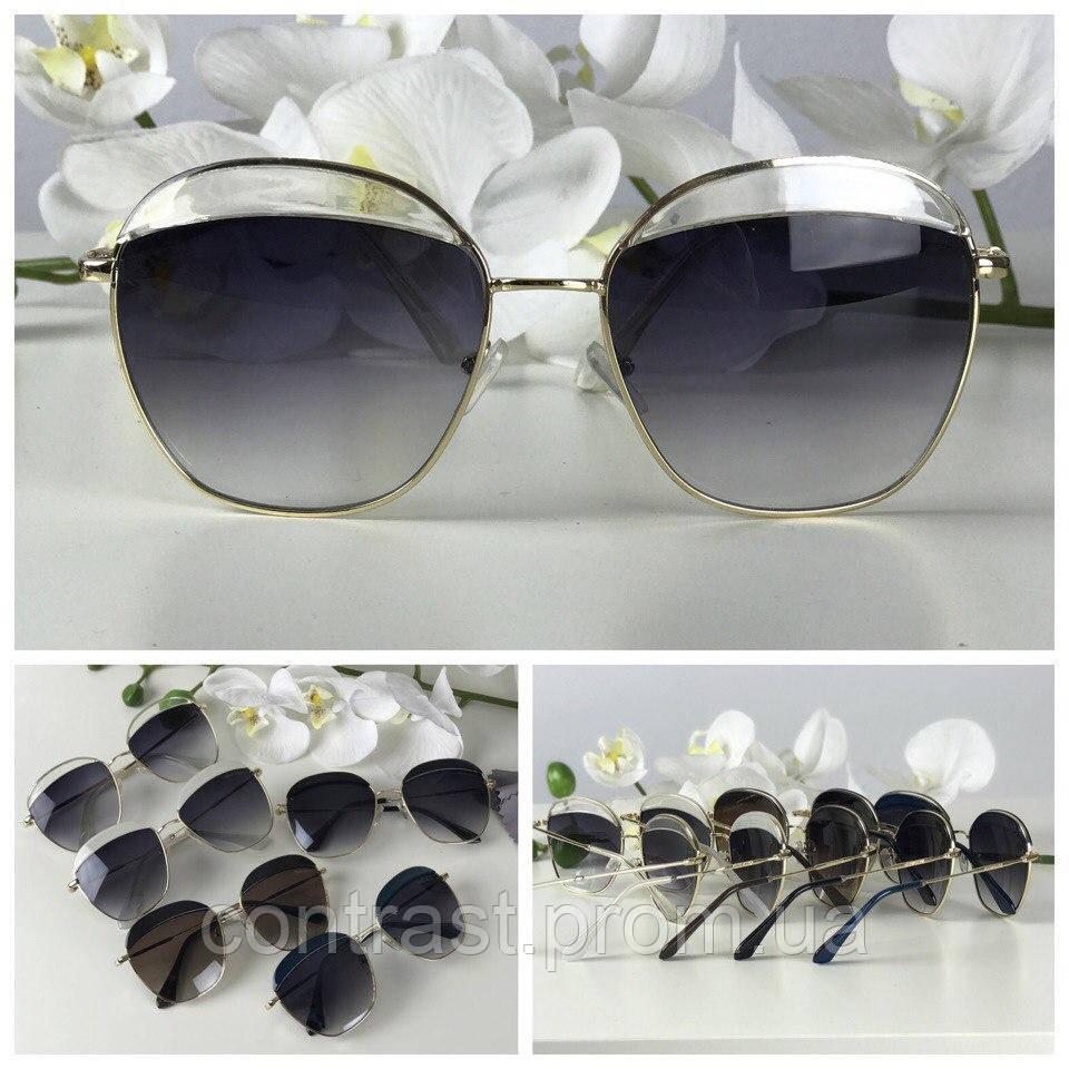 Роскошные очки-оверсайз экстравагантной формы pantos (черная линза, прозрачный декор)