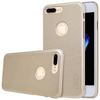 "Чехол Nillkin Frosted для Apple iPhone 7 plus (5.5"") золотой (+пленка)"