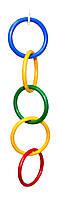 Пластиковая игрушка для попугая (5 колец)
