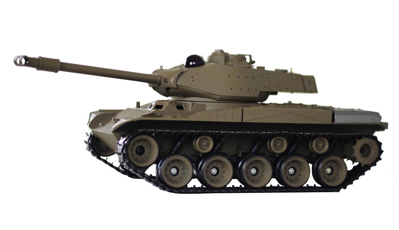 Танк р/у 1:16 Heng Long Bulldog M41A3 с пневмопушкой и и/к боем (HL3839-1-IR)