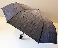 """Зонт женский полуатомат с рисунком капельки на 8 карбоновых спиц от фирмы""""Princess""""."""