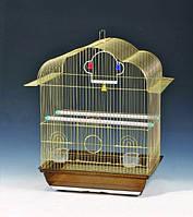 Клетки для мелких птиц (Белинда) 37*28*48см (золото), фото 1