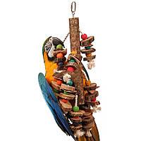 Игрушка для ары, какаду (Пеньки и веревки), фото 1