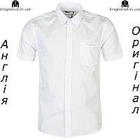 Рубашка мужская Pierre Cardin белая летняя на короткий рукав | Сорочка чоловіча Pierre Cardin біла
