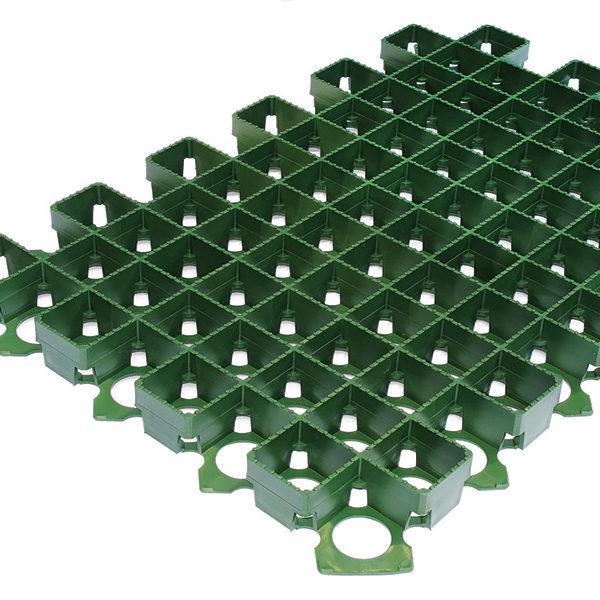 Газонна решітка 60х40х3,8 пластикова зелена