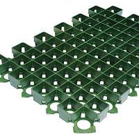 Решетка газонная 60х40х3,8 пластиковая зеленая