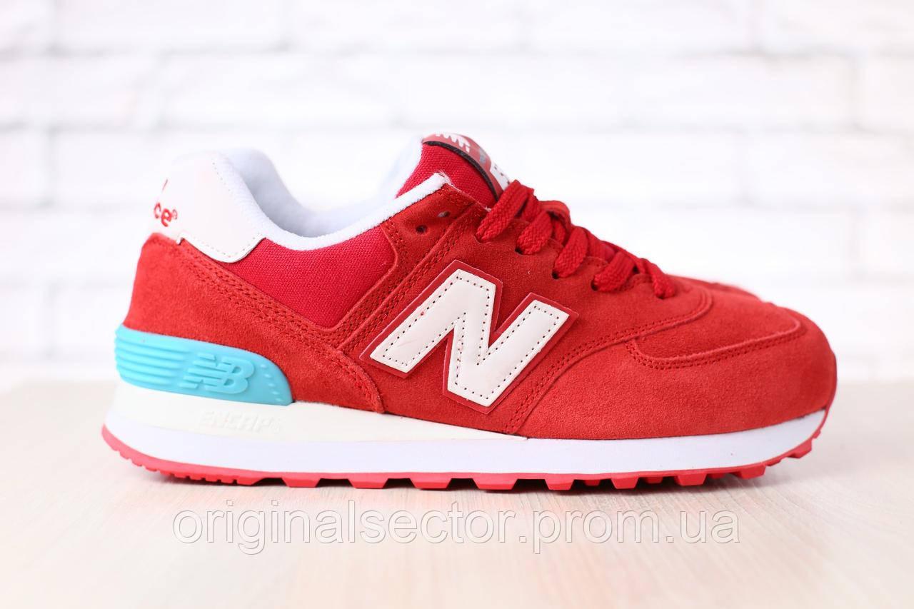 Женские красные кроссовки New Balance 574 - интернет-магазин