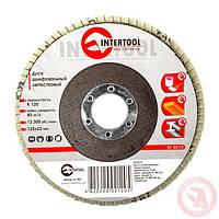 Круг лепестковый торцевой 125 Р80 Intertool