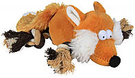 Игрушка Trixie Fox для собак плюшевая, лиса с пищалкой, 34 см