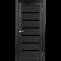 Межкомнатные двери Porto Deluxe PD-01  80 венге черное стекло