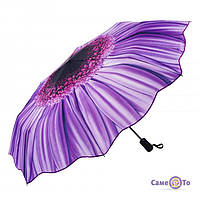 ТОП ВЫБОР! Оригинальный зонт от дождя и солнца Цветок 1000997 зонтик, зонт, зонт с цветком, Зонт оригинальный