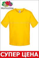 Детская футболка Мягкая для Мальчиков Солнечно-жёлтая Fruit of the loom 61-015-34 12-13