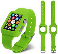 - Ремень для Apple Watch Apple Watch 38mm Soft Silicon Band  - Green