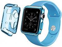 - Ремень для Apple Watch Apple Watch 38mm TPU Case - Clear Blue