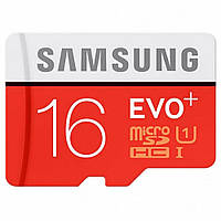 Samsung 16 GB microSDHC Class 10 UHS-I EVO Plus + SD Adapter MB-MC16DA (300800)