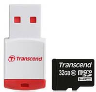 Transcend 32 GB microSDHC class 10 + P3 Card Reader TS32GUSDHC10-P3 (300814)