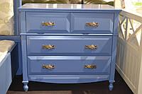 Комод синий на 4 ящика