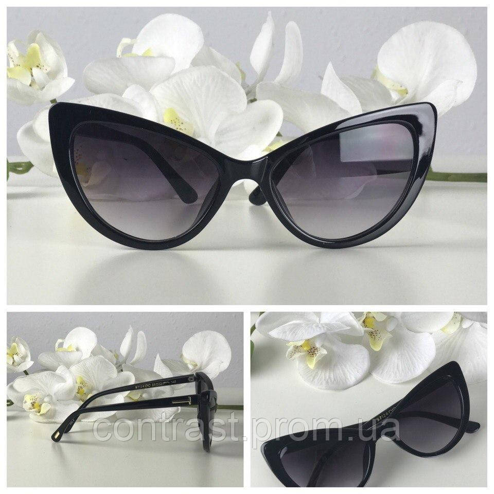 Эффектные очки-стрекозы с поднятыми уголками