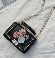 Маленькая Женская черная сумочка кроссбоди в стиле Chanel