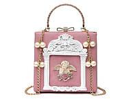 Пудровая сумка с ангелком