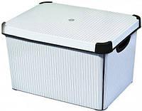 Декоративная коробка с крышкой классика STOCKHOLM L Curver 188166