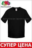 Детская футболка Мягкая для Мальчиков Чёрная Fruit of the loom 61-015-36 3-4