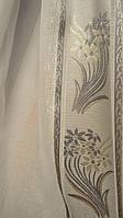 Тюль батист с цветочным узором
