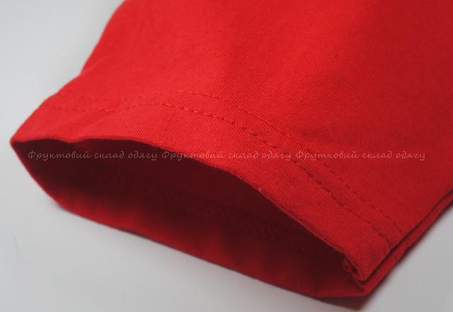 Красная детская мягкая футболка для мальчиков