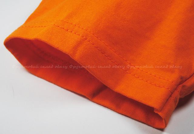 Оранжевая детская мягкая футболка для мальчиков