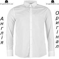 Рубашка мужская Pierre Cardin белая на длинный рукав | Сорочка чоловіча Pierre Cardin біла