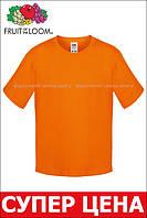 Детская футболка Мягкая для Мальчиков Оранжевая Fruit of the loom 61-015-44 5-6