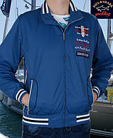 Куртка портивная весна-осень.Размер М .Ветровка Paul Shark -098 синяя