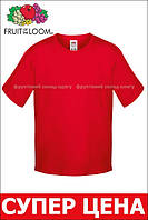 Детская футболка Мягкая для Мальчиков Красная Fruit of the loom 61-015-40 9-11