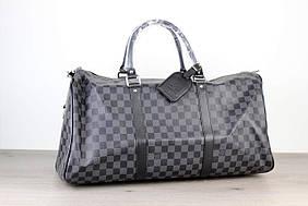 Мужская сумка Softsided Luggage Louis Vuitton Keepall 55 Damier Graphite, Копия