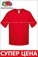 Детская футболка Мягкая для Мальчиков Красная Fruit of the loom 61-015-40 12-13