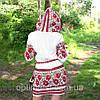 Жіноча льняна сукня з вишивкою, фото 3