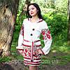 Жіноча льняна сукня з вишивкою, фото 4