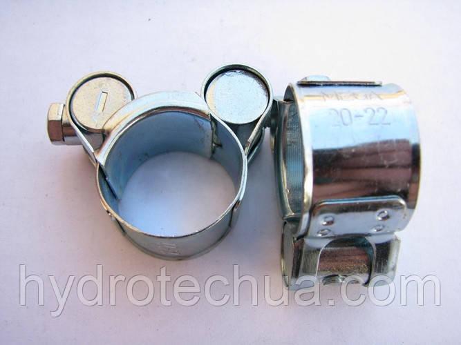 Хомут 20-22 W1 силовой HYDRO TECH стальной оцинкованный