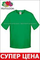 Детская футболка Мягкая для Мальчиков Ярко-зелёная Fruit of the loom 61-015-47 3-4