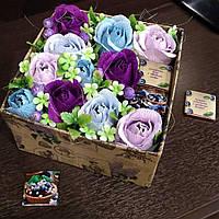 Заказать композицию, букет цветов из конфет в коробке, корзинке