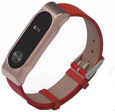 Mijobs  Mijobs Leather Band for Xiaomi MiBand 2 Red/Gold