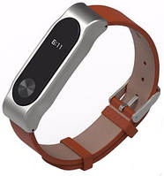 Mijobs Ремешок для спортивного браслета Mijobs PU Leather Band for Xiaomi MiBand 2 Brown